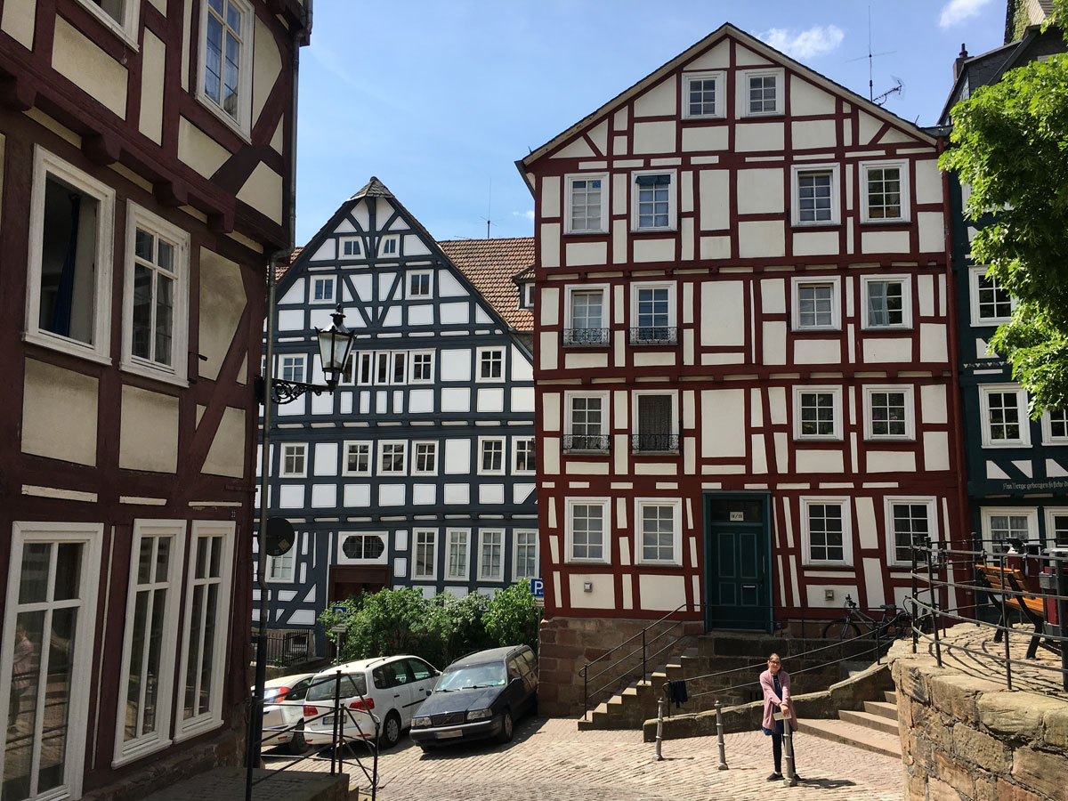Leandra on our Mother's Day getaway weekend in Marburg in 2018